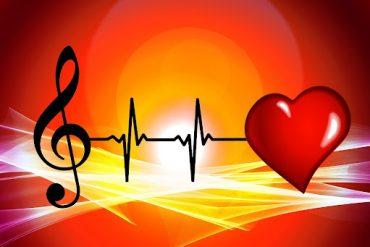 Скрипичный ключ и сердце. Сердцу музыка важна.