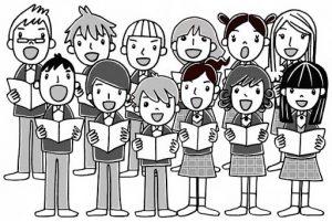 Дети поют хором. Хору музыка важна.