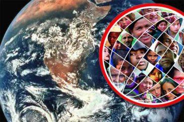 Гражданам нужна независимость страны. На картинке: планета Земля и ее жители.