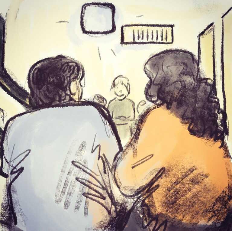 На картинке изображены соседи,которые пережидают в бомбоубежище сигнал тревоги - беда, сближающая людей друг с другом. Почему такой должна быть причина, сближающая людей?